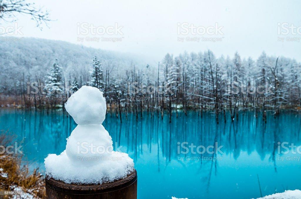 Мало снежный человек Стоковые фото Стоковая фотография