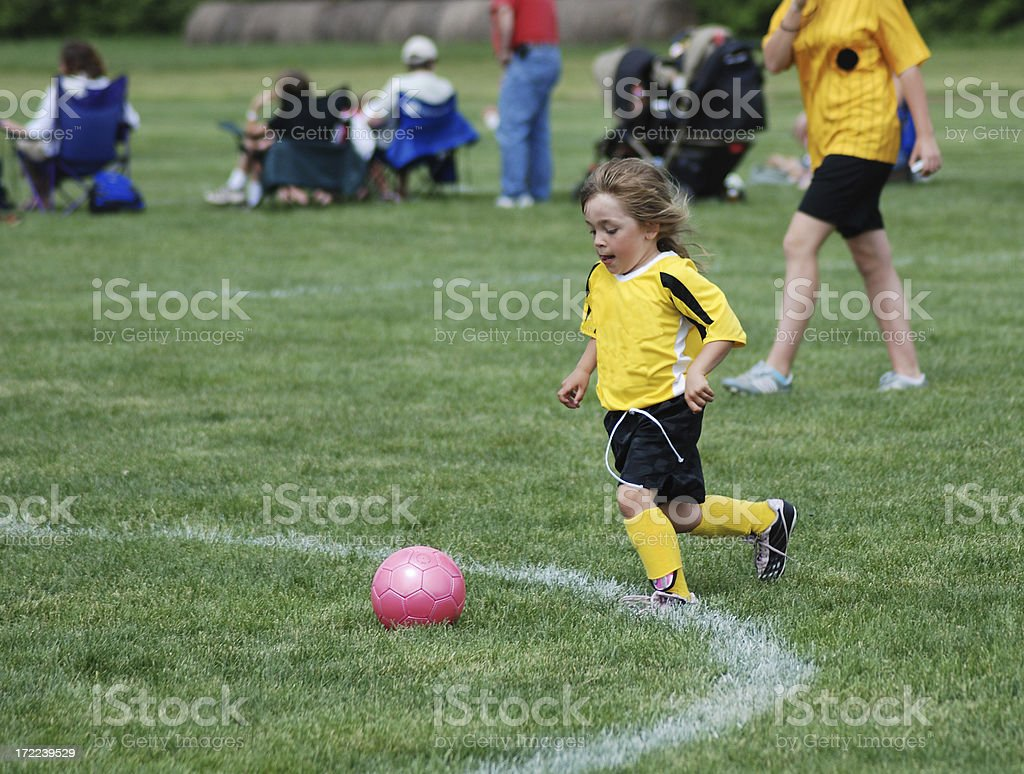 Little Soccer Player royalty-free stock photo