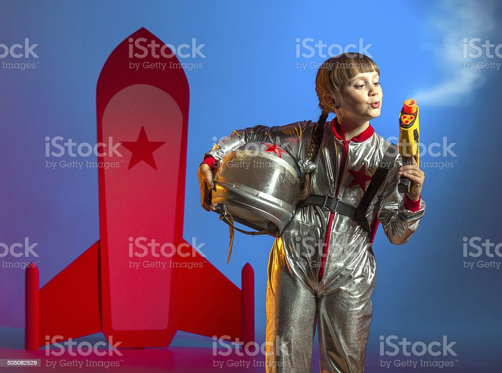 Little space cop royalty-free stock photo