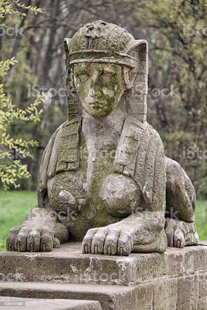 Little sphinx stock photo