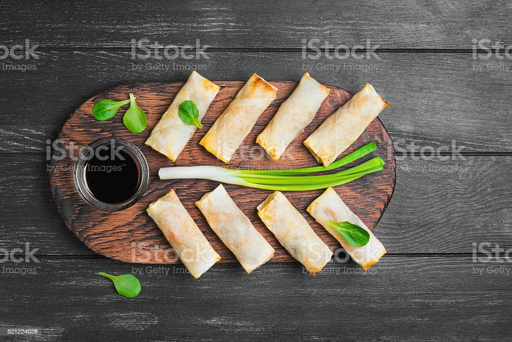 Little spring rolls stock photo