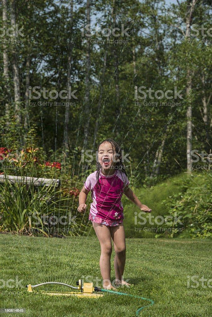 Little Sprinkler Drinker royalty-free stock photo