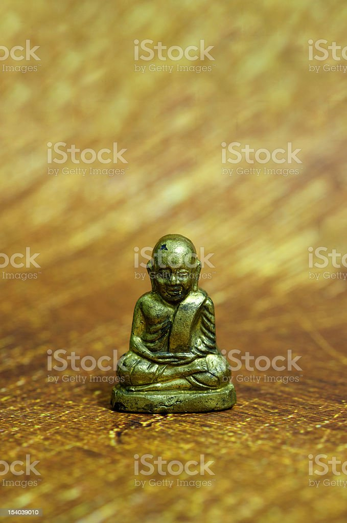 Little Statue of Monk royalty-free stock photo