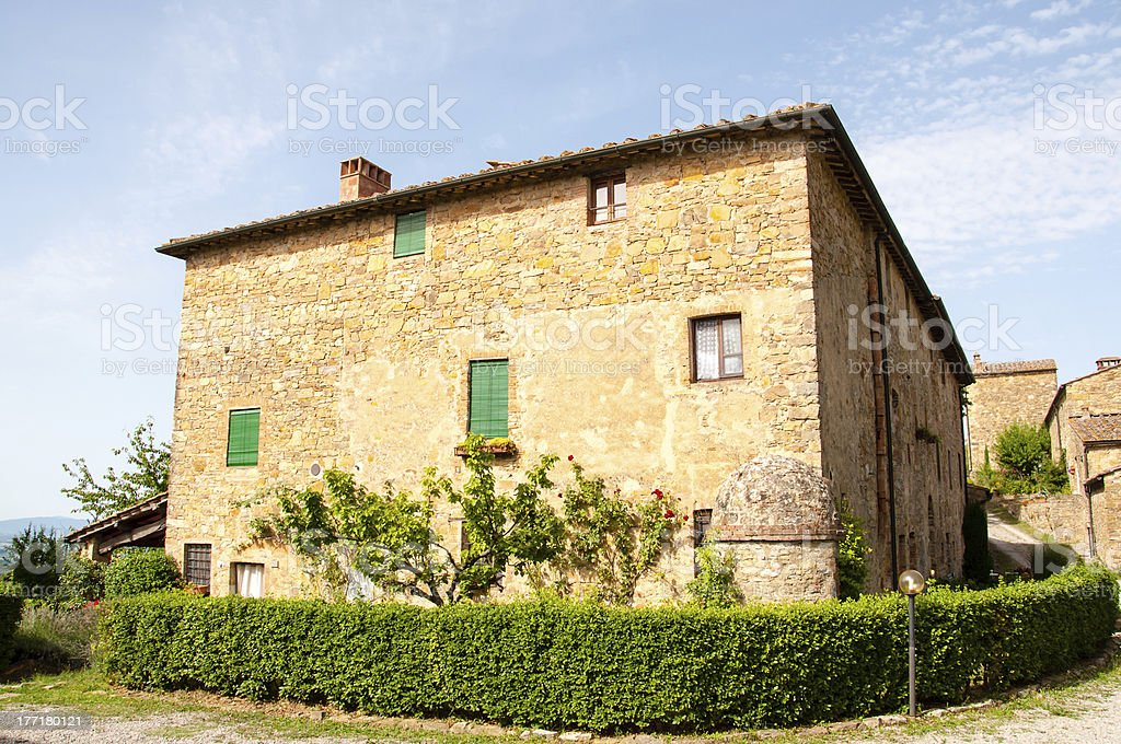 little stone house in tuscany, italy royalty-free stock photo