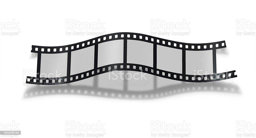 Little strip of empty 35mm film, white background stock photo