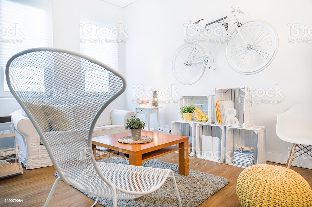 Little student's studio with modern design stock photo