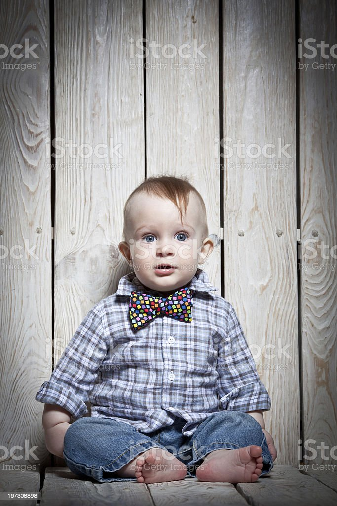 little stylish kid royalty-free stock photo