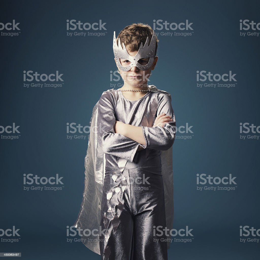 little super hero portrait royalty-free stock photo