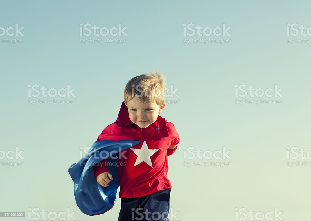 Little Superhero stock photo