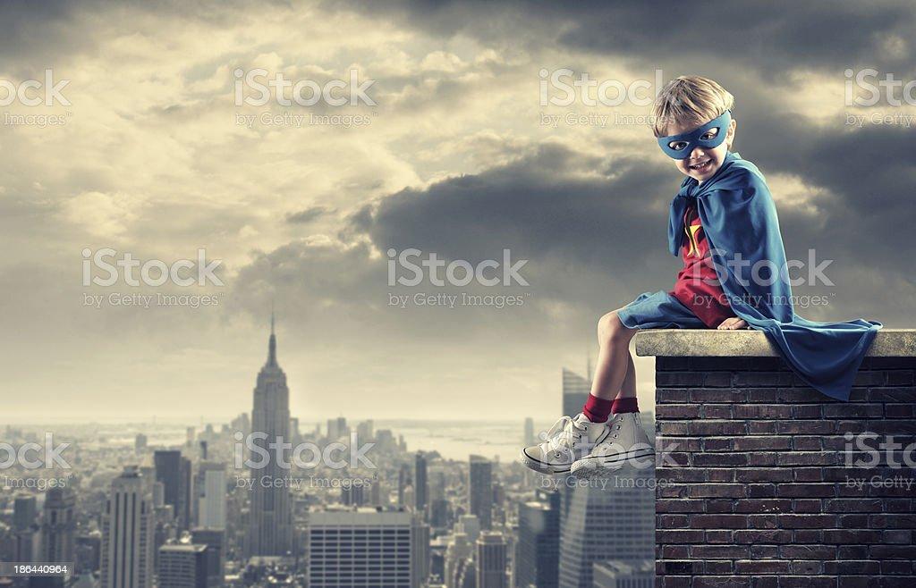 Little Superhero stock photo