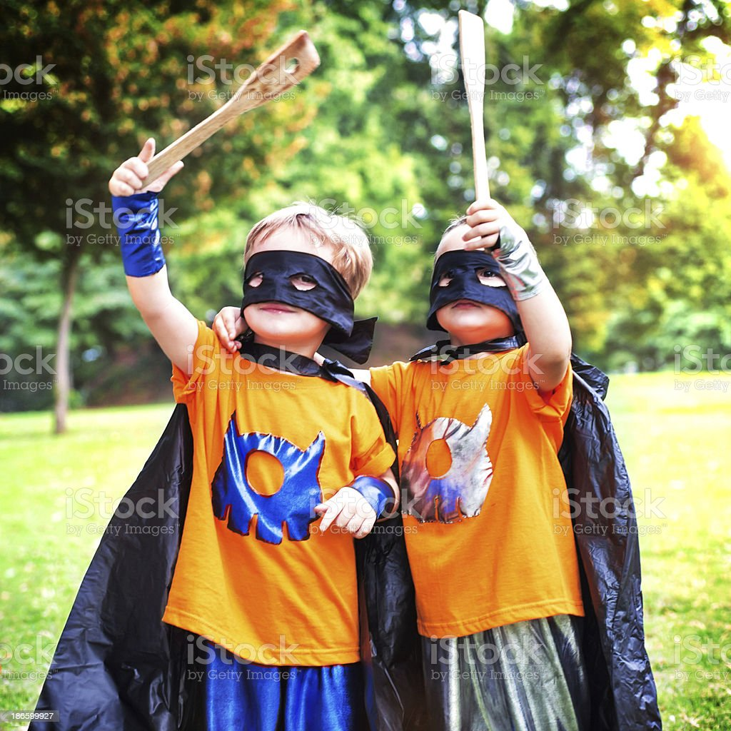 Little Superheros royalty-free stock photo