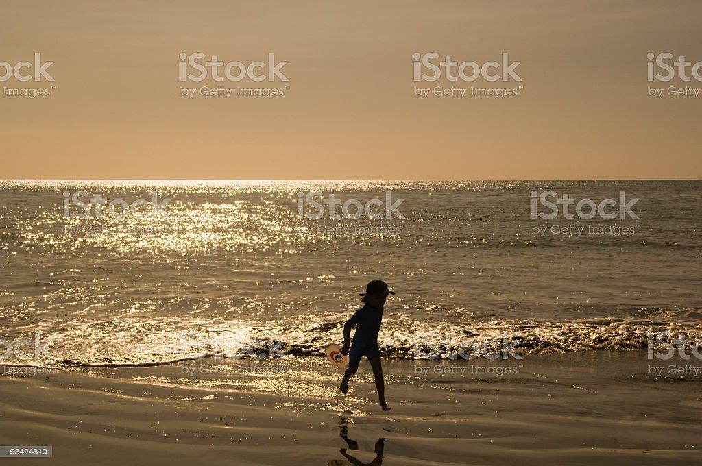 Little Surfer Girl royalty-free stock photo