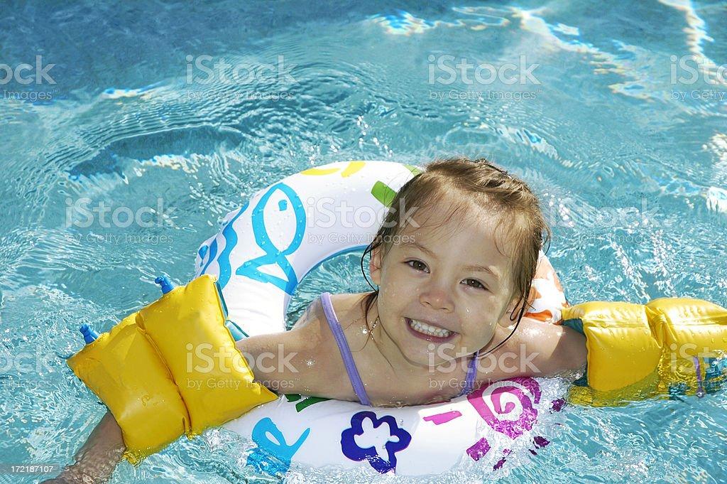 Little Swimmer stock photo
