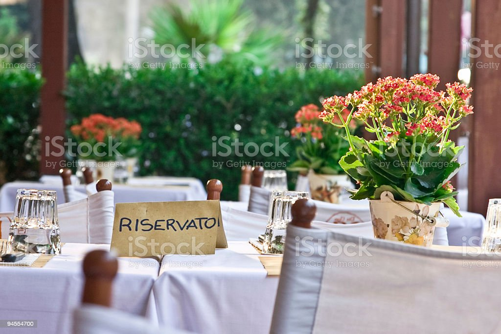 Little table in cafe royalty-free stock photo