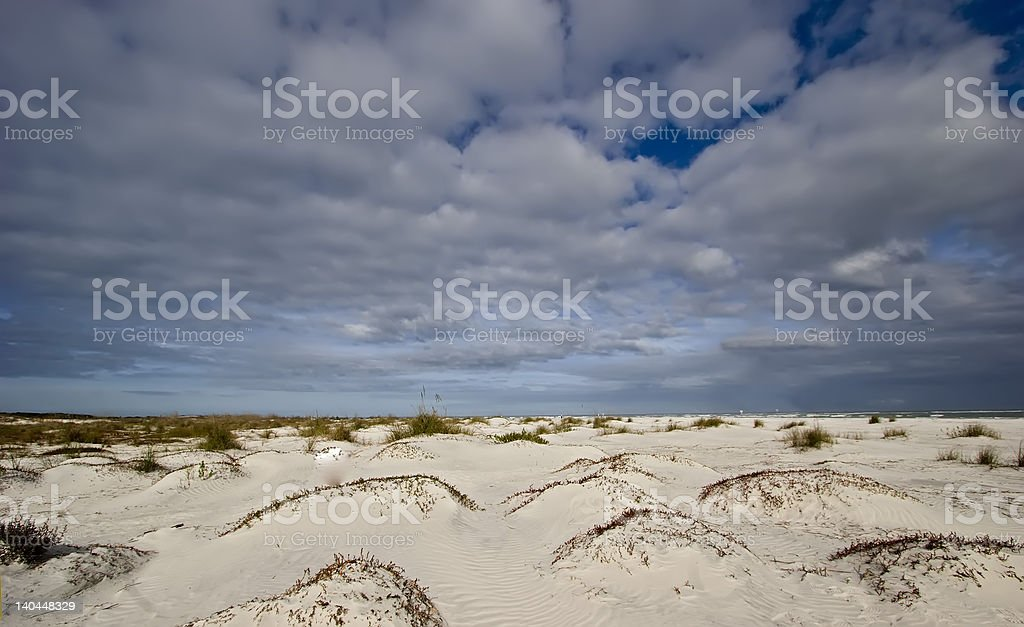 Little Talbot Island Sand Dunes stock photo