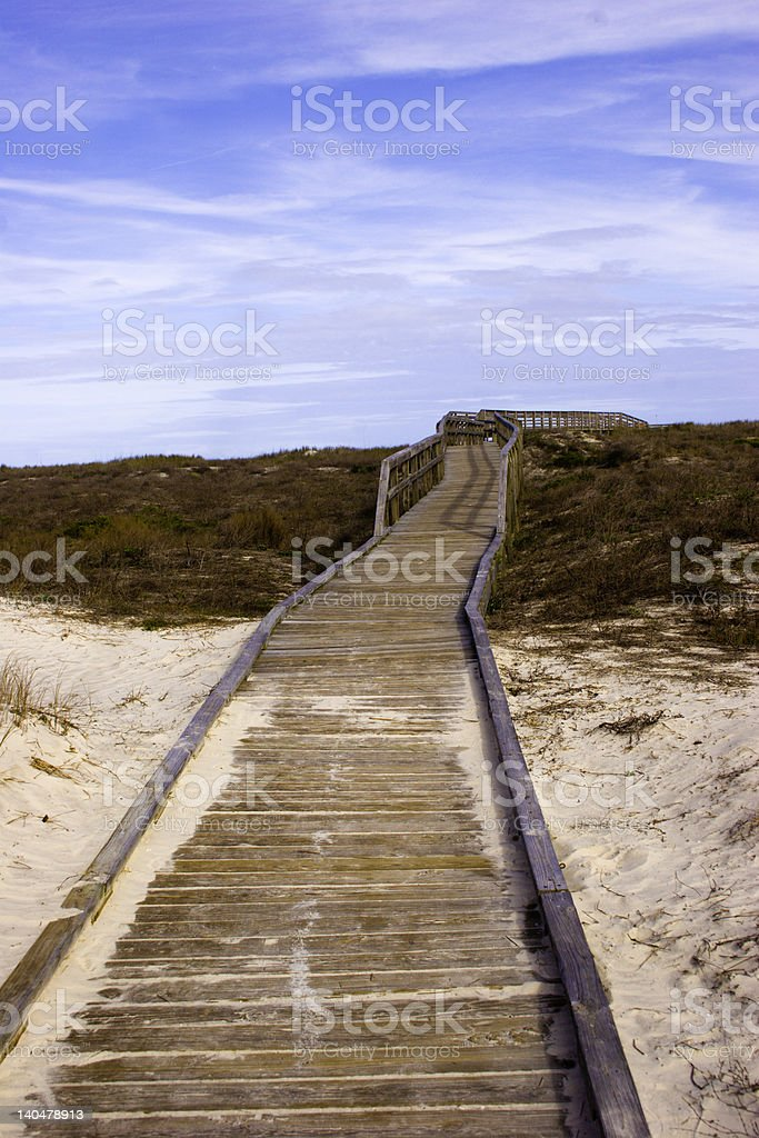Little Talbot Island Walkway stock photo
