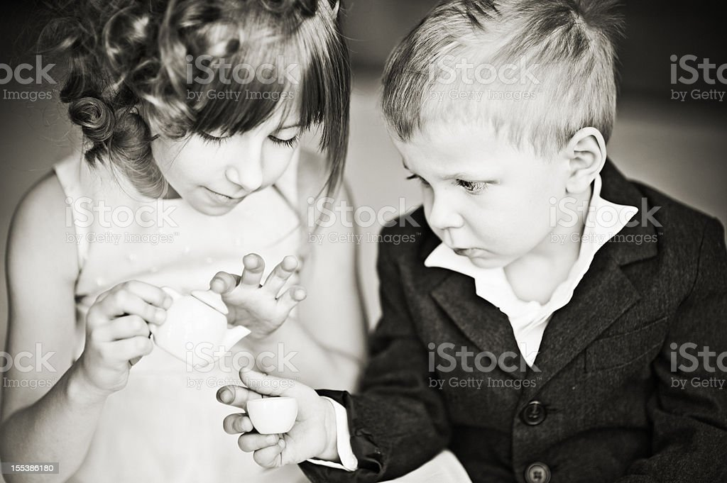 Little tea party royalty-free stock photo