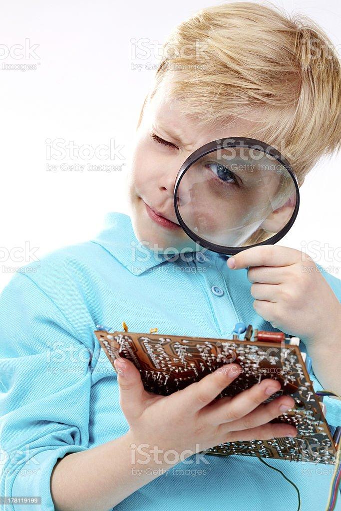 Little technician stock photo