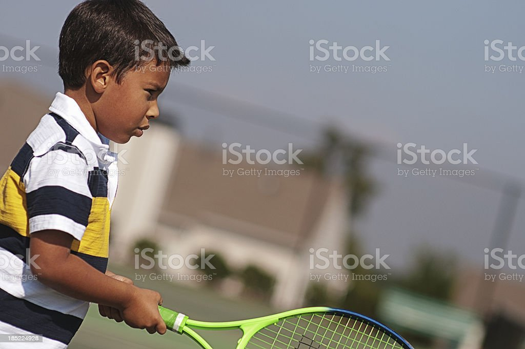 little tennis player royalty-free stock photo