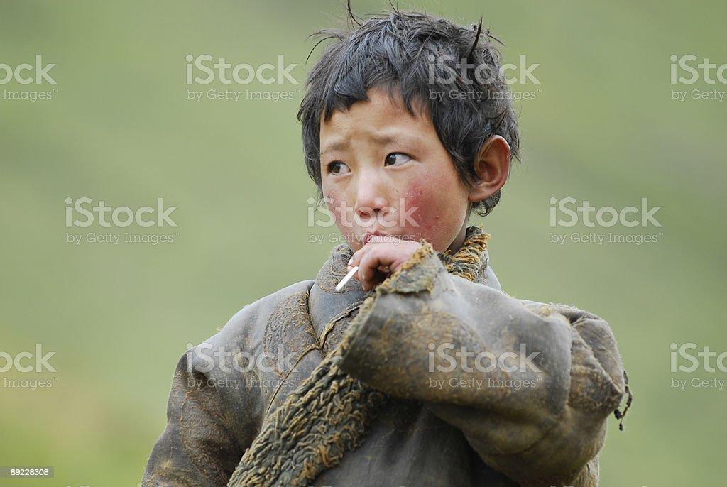 Little Tibetan Boy royalty-free stock photo