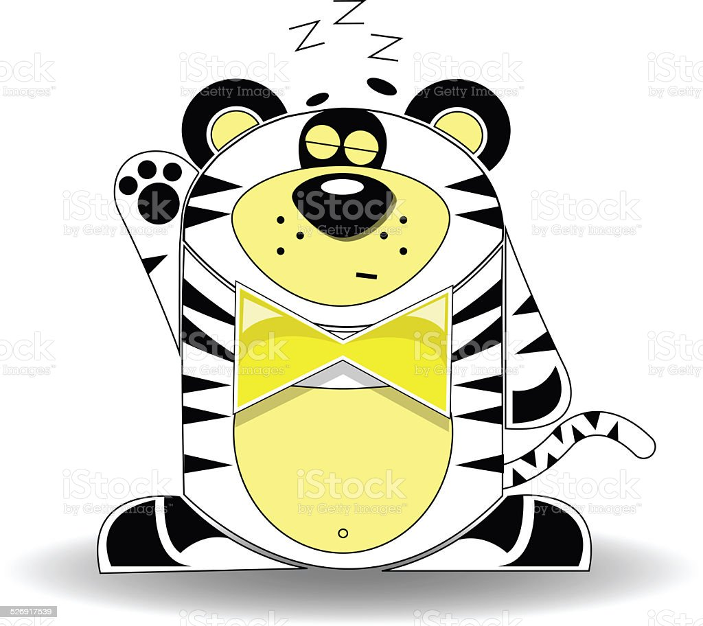 Little tiger dreaming stock photo