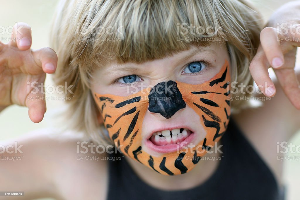 Little tiger girl. royalty-free stock photo