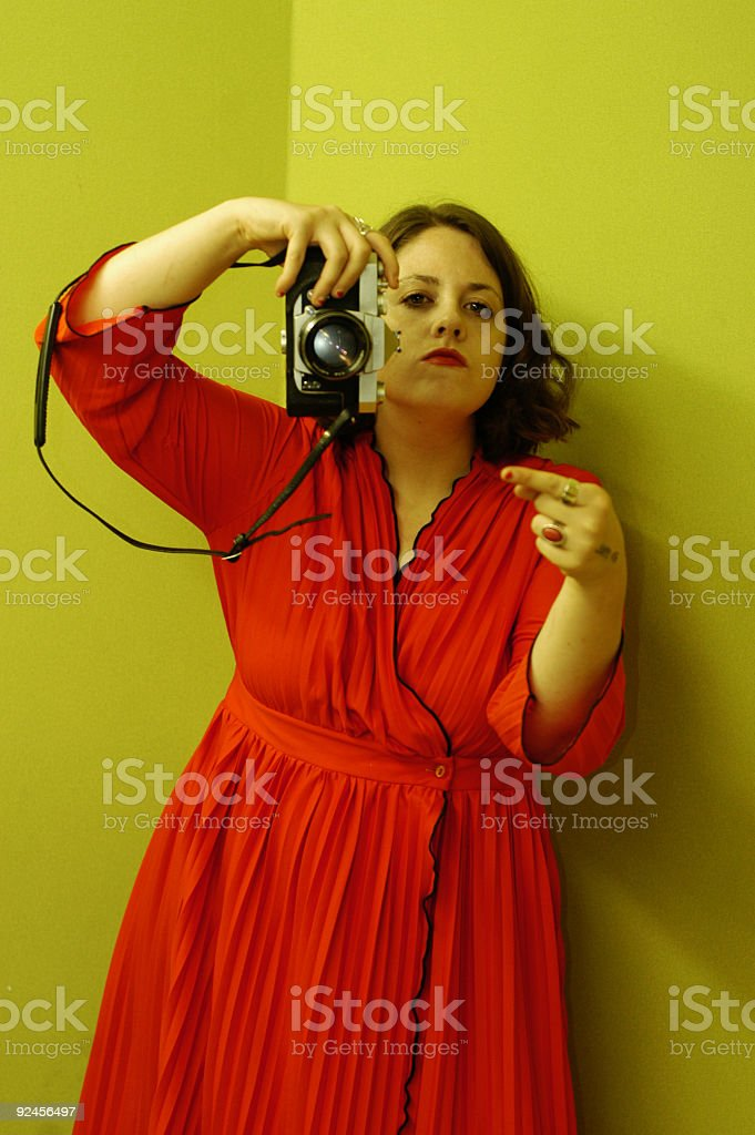 Little to the left, please royalty-free stock photo