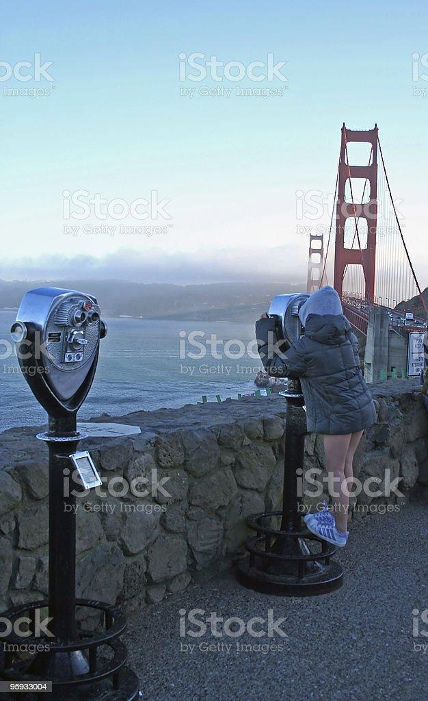 Little Tourist stock photo