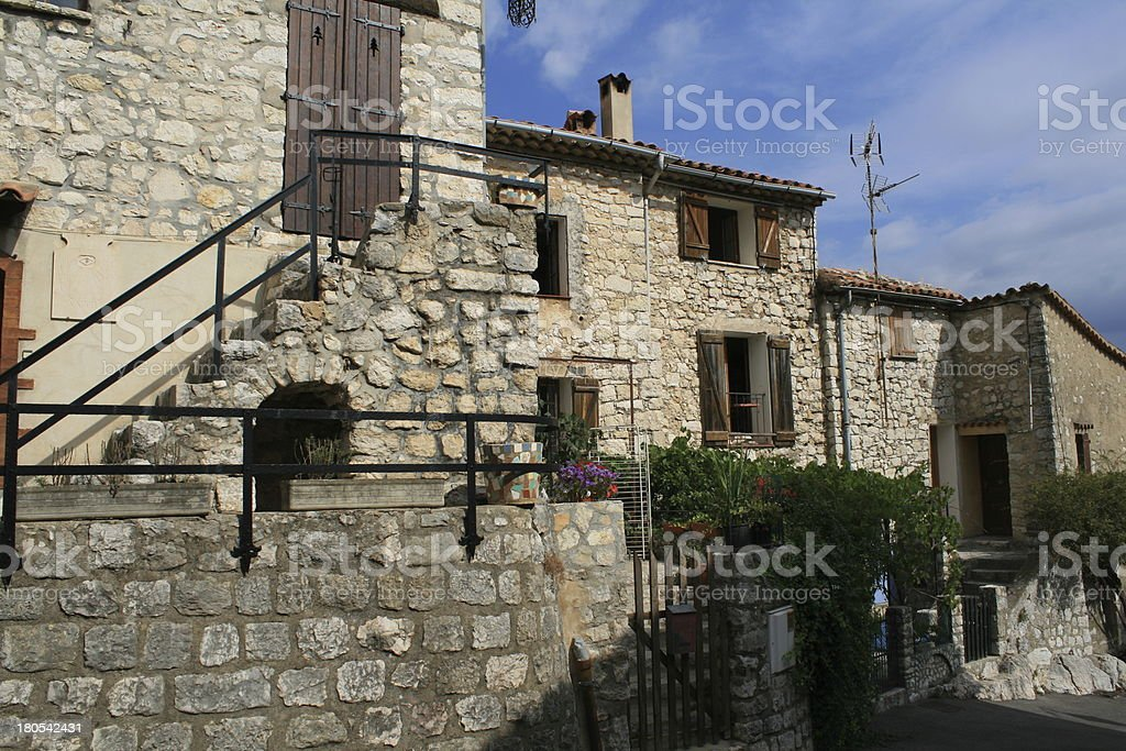 little town in southern france royalty-free stock photo