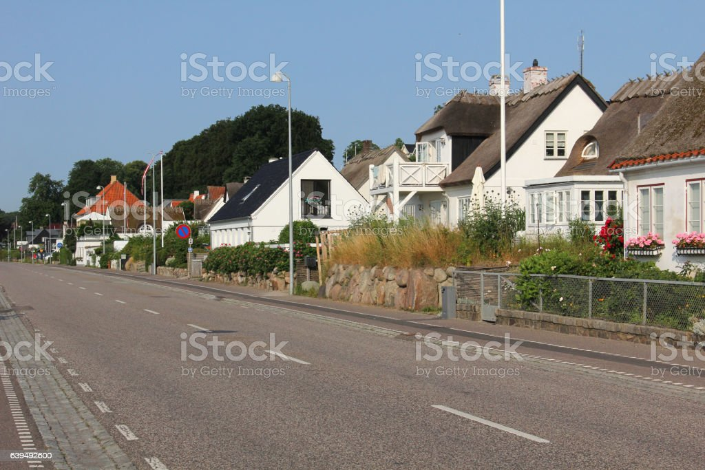 Little town out summer stock photo