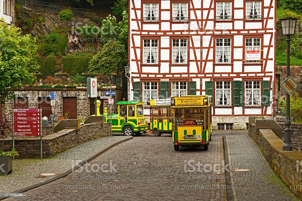 Little train in Monschau royalty-free stock photo