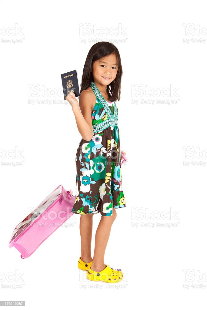 Little Traveler royalty-free stock photo