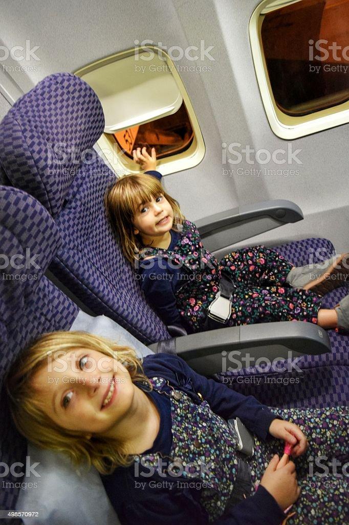 Little travelers stock photo