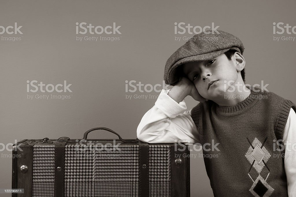 Little traveller royalty-free stock photo