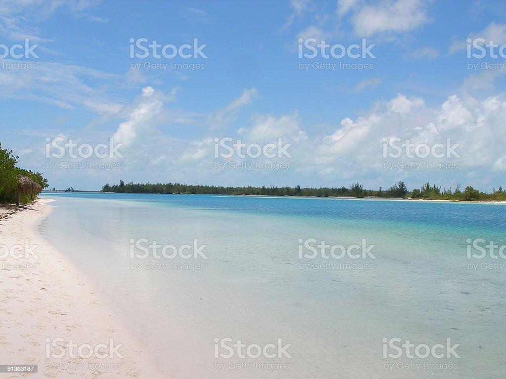 Little tropical lagoon stock photo
