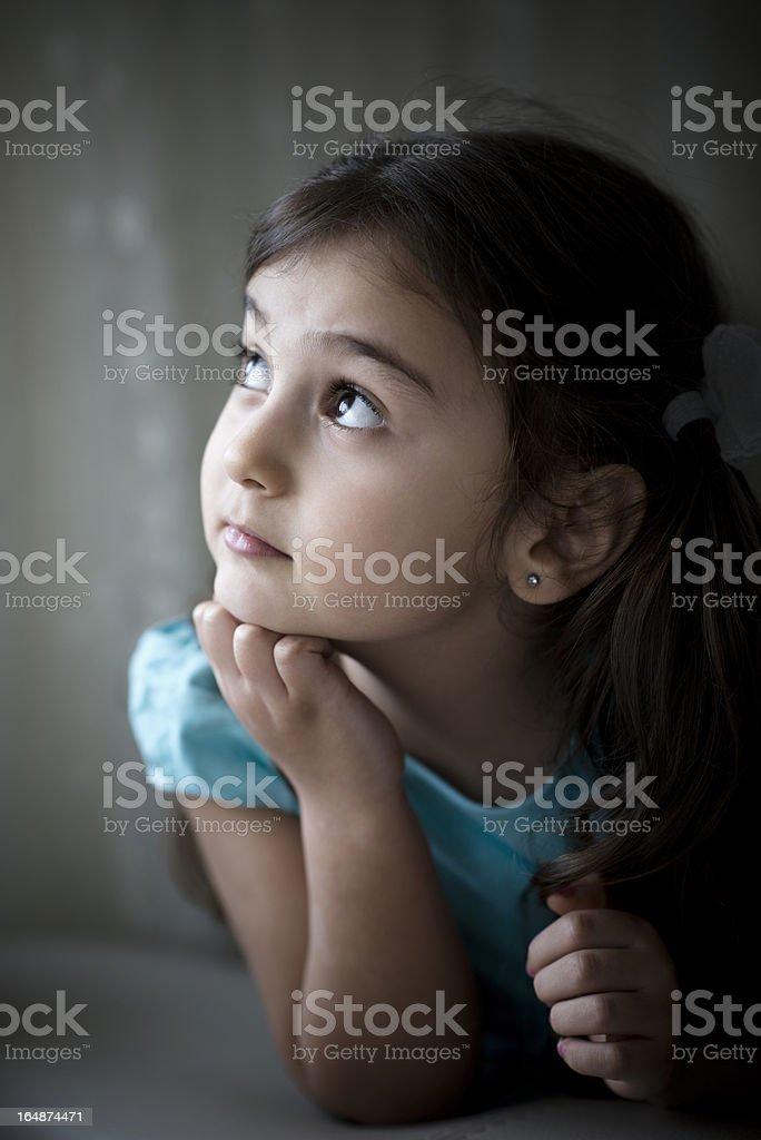 Little Turkish girl royalty-free stock photo