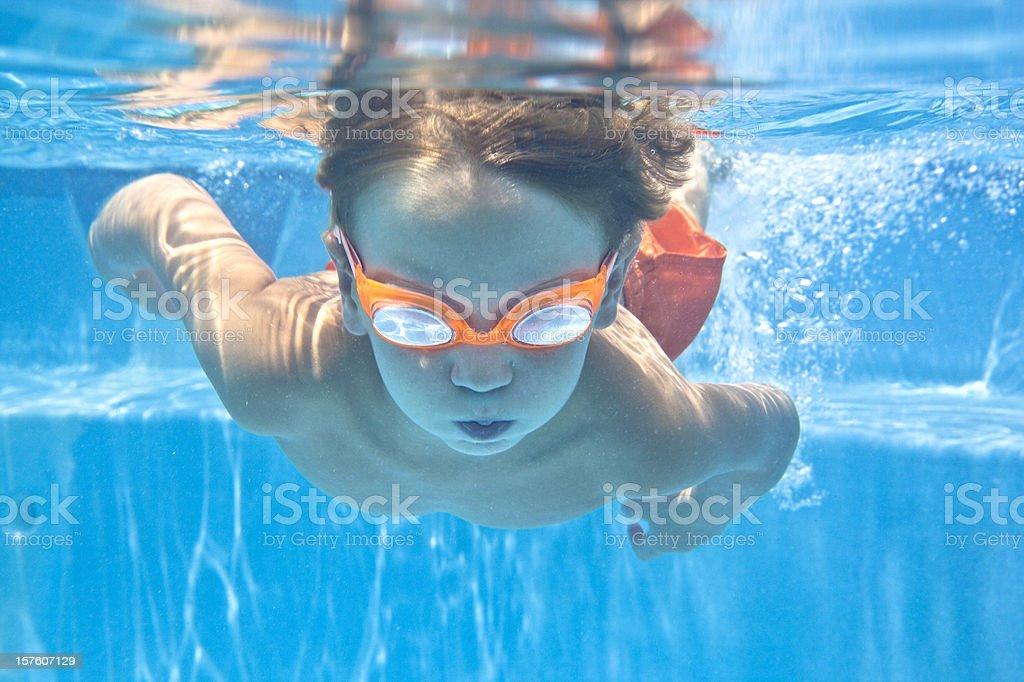 Little Underwater Swimmer stock photo