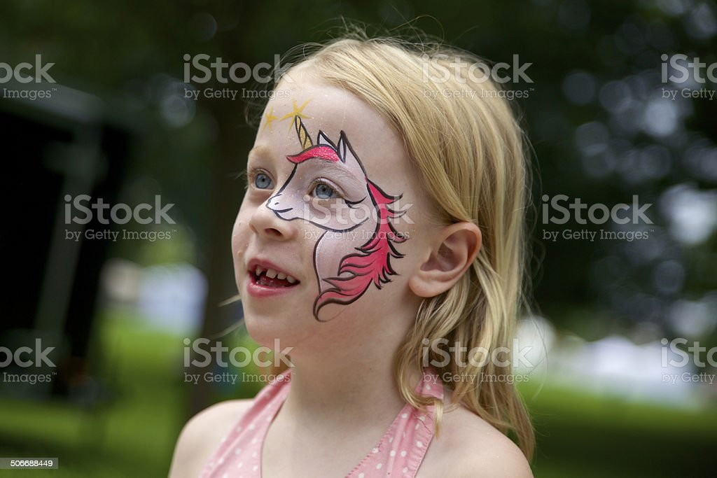 Little Unicorn Girl stock photo