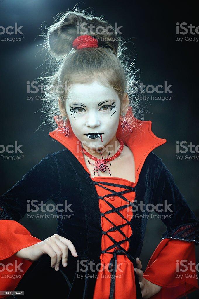 Little Vampire halloween stock photo