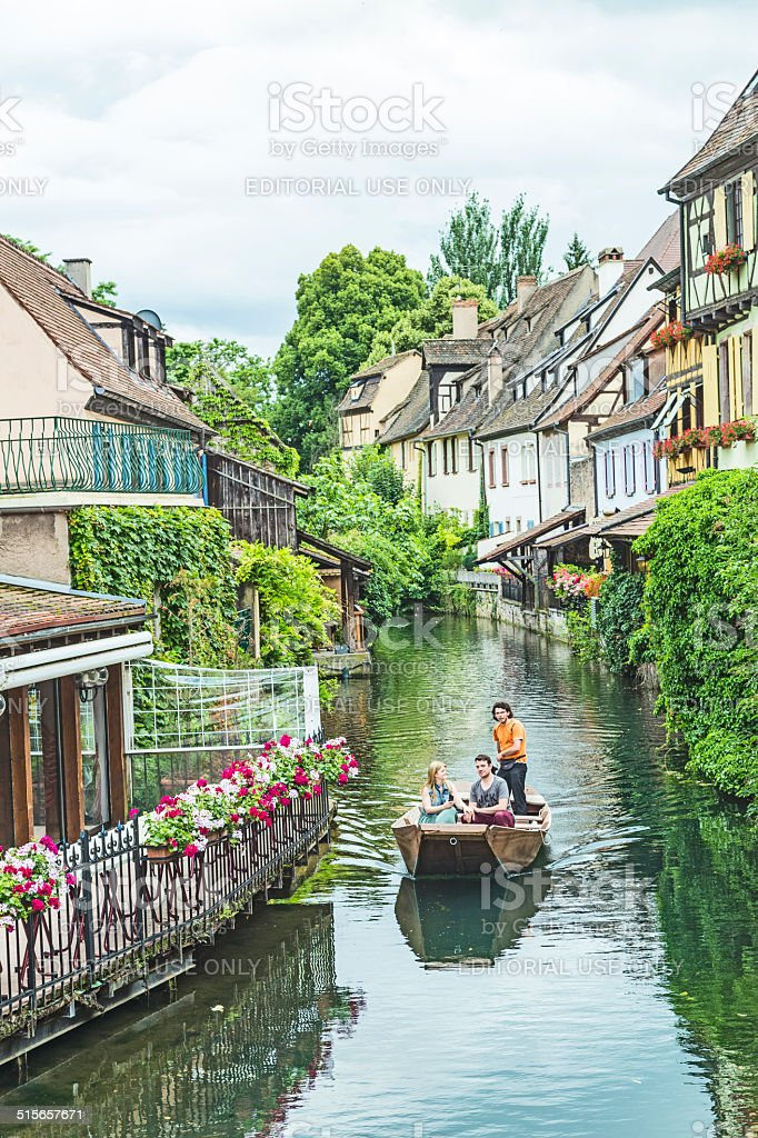 Little Venice in Colmar, France stock photo