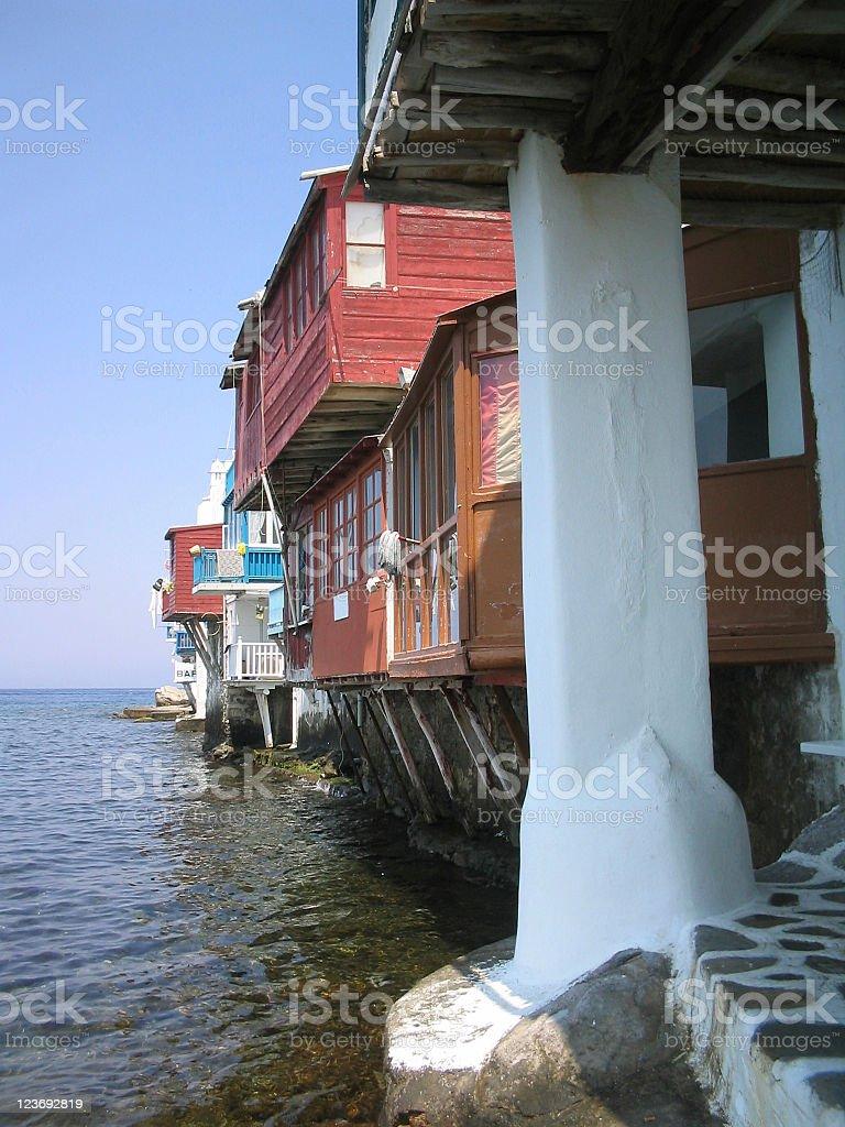 Little Venice in Myconos stock photo