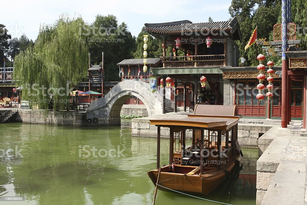 Little Venice in Summer Palace Beijing stock photo