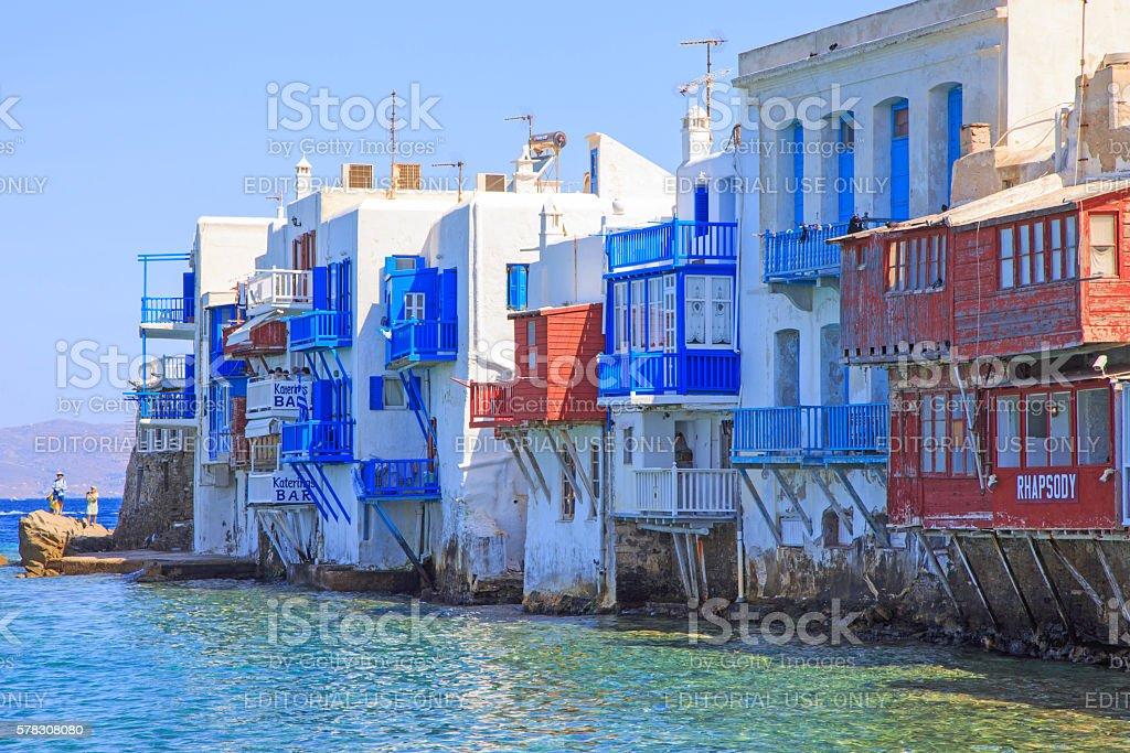 Little Venice - Mykonos stock photo