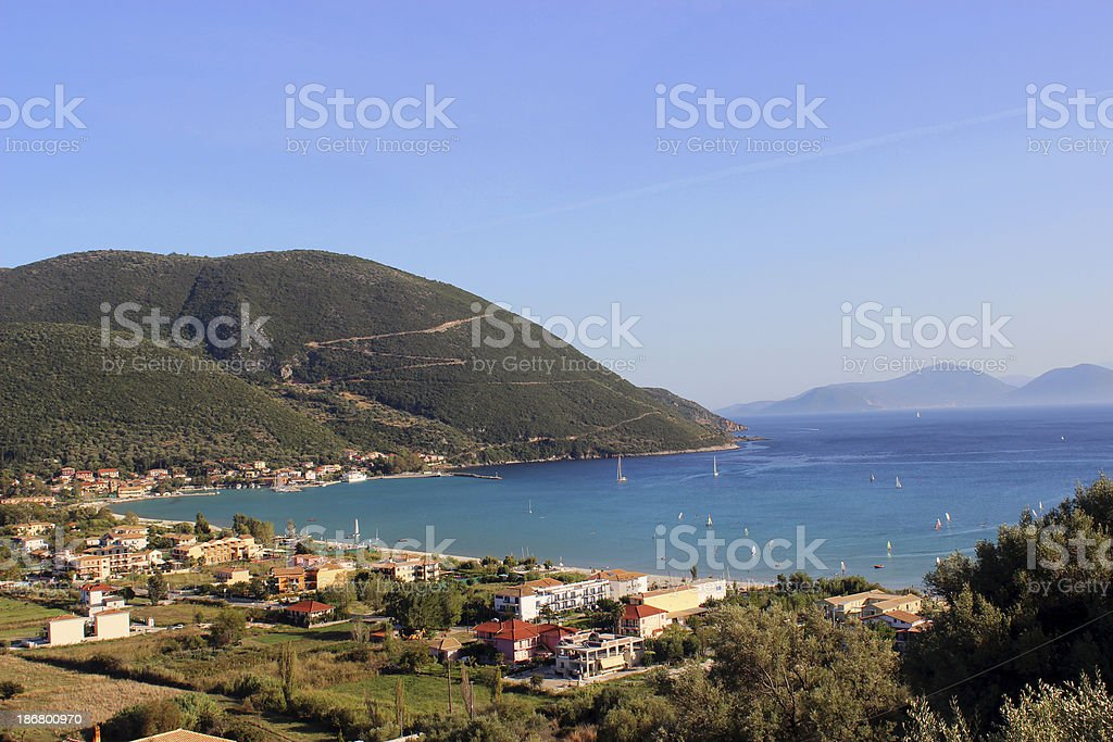 Little village of Vasiliki at Lefkada Island (Greece) royalty-free stock photo