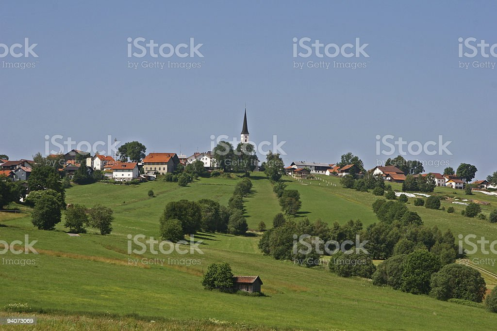 Little Village on a Hill royalty-free stock photo