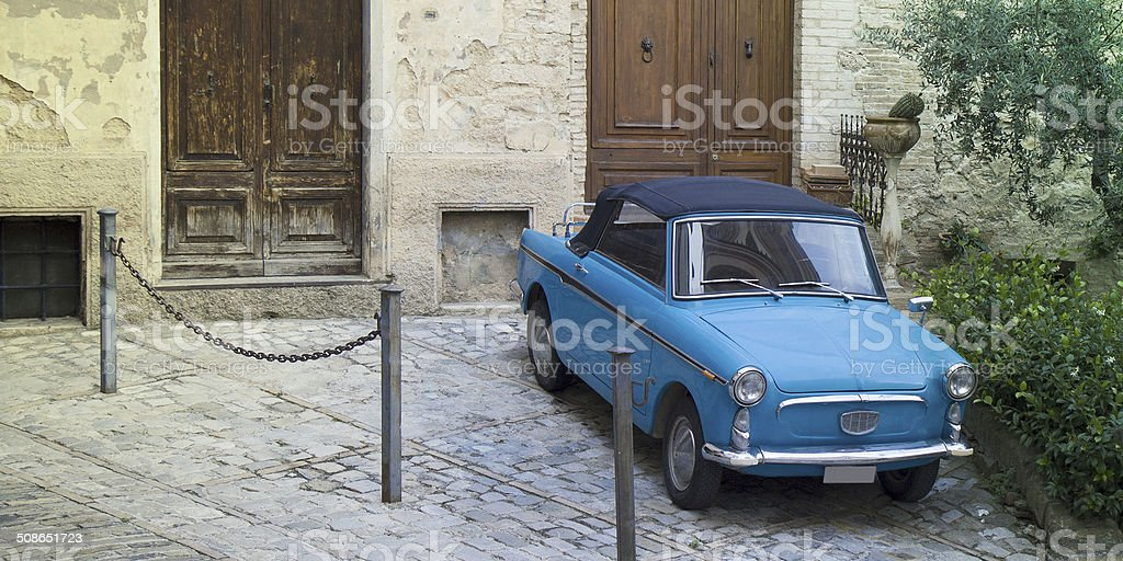 Little vintage car royalty-free stock photo