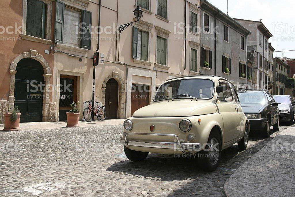 Little vintage italian car stock photo