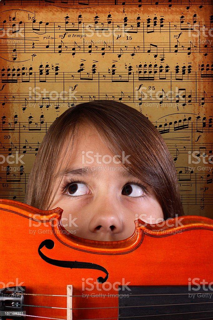 Little Virtuoso royalty-free stock photo
