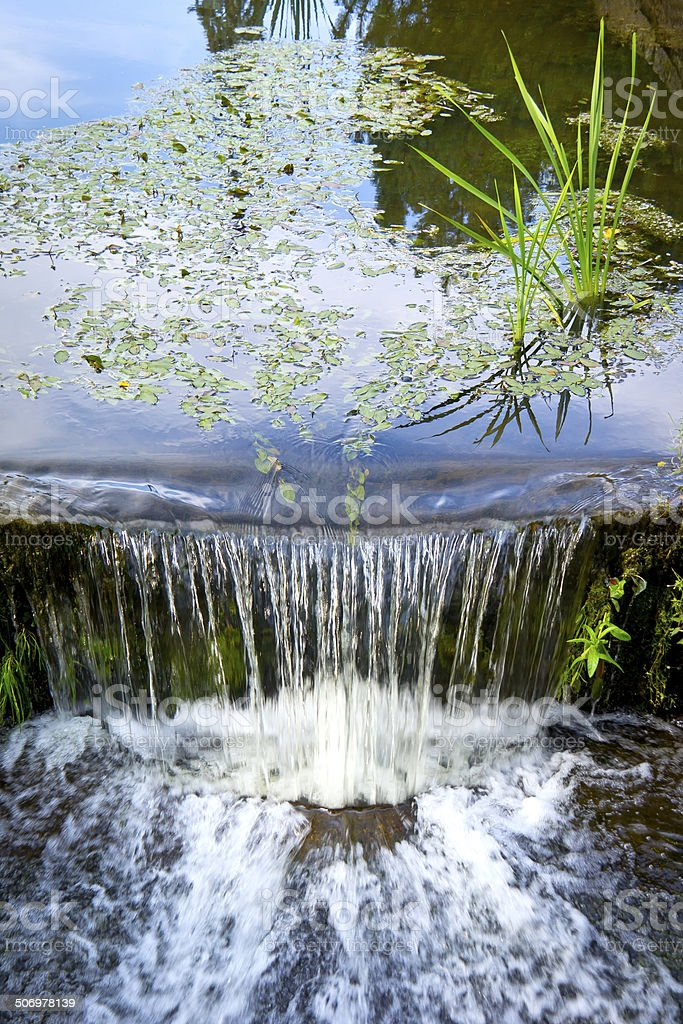 Little Waterfall in the Park. stock photo