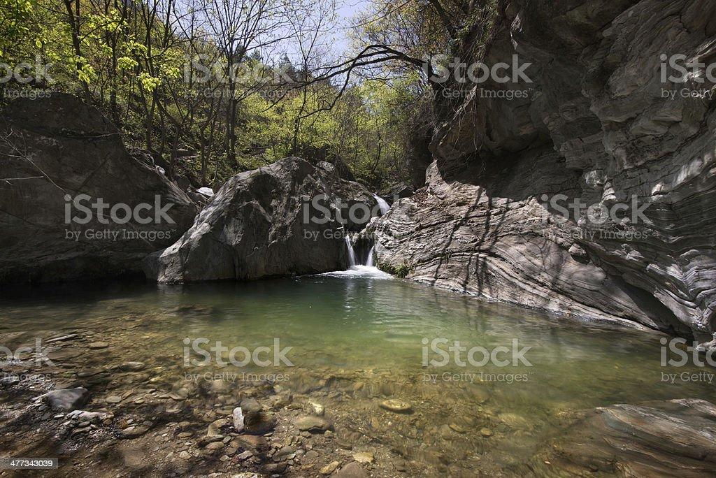 little waterfall stock photo